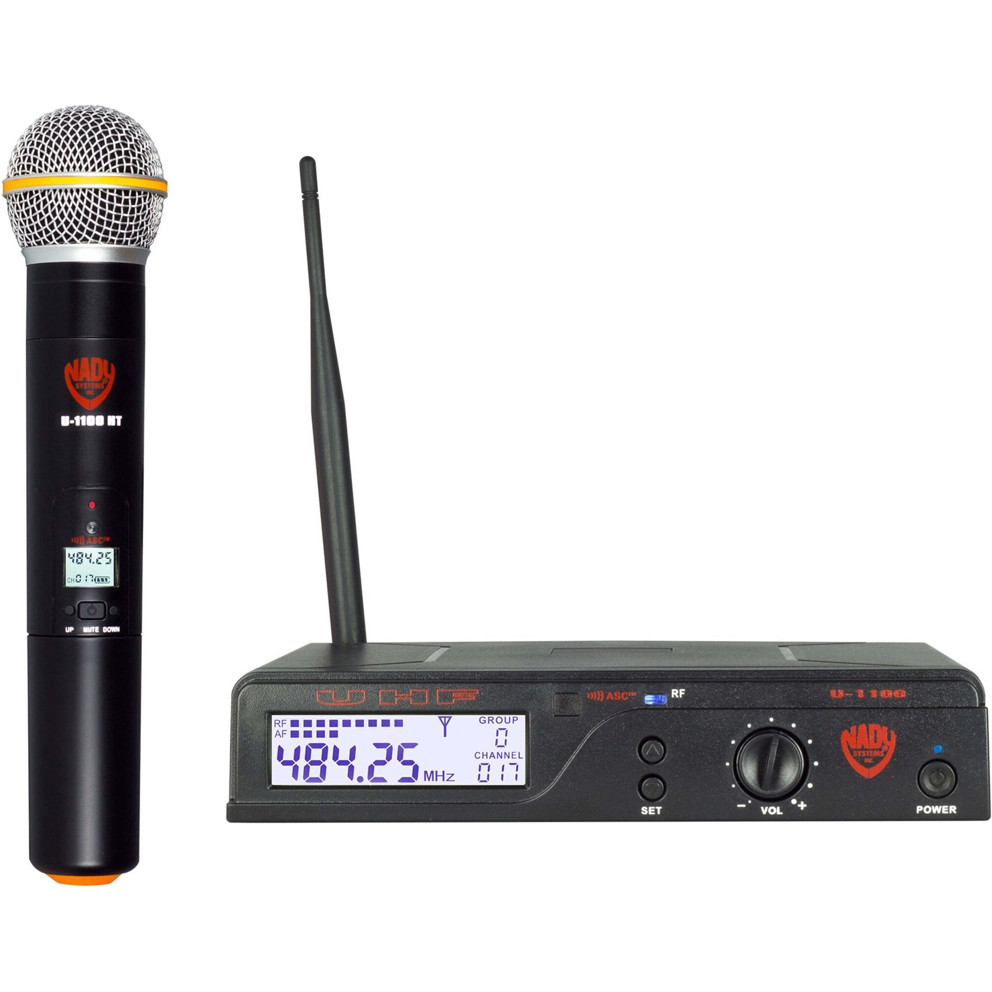 Nady U-1100-HT UHF Wireless Handheld Microphone System, Channel A