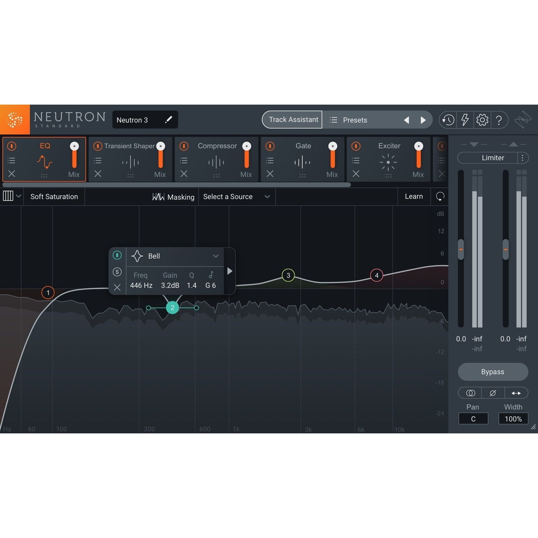 iZotope Neutron 3 Standard Mixing Plug-in Software