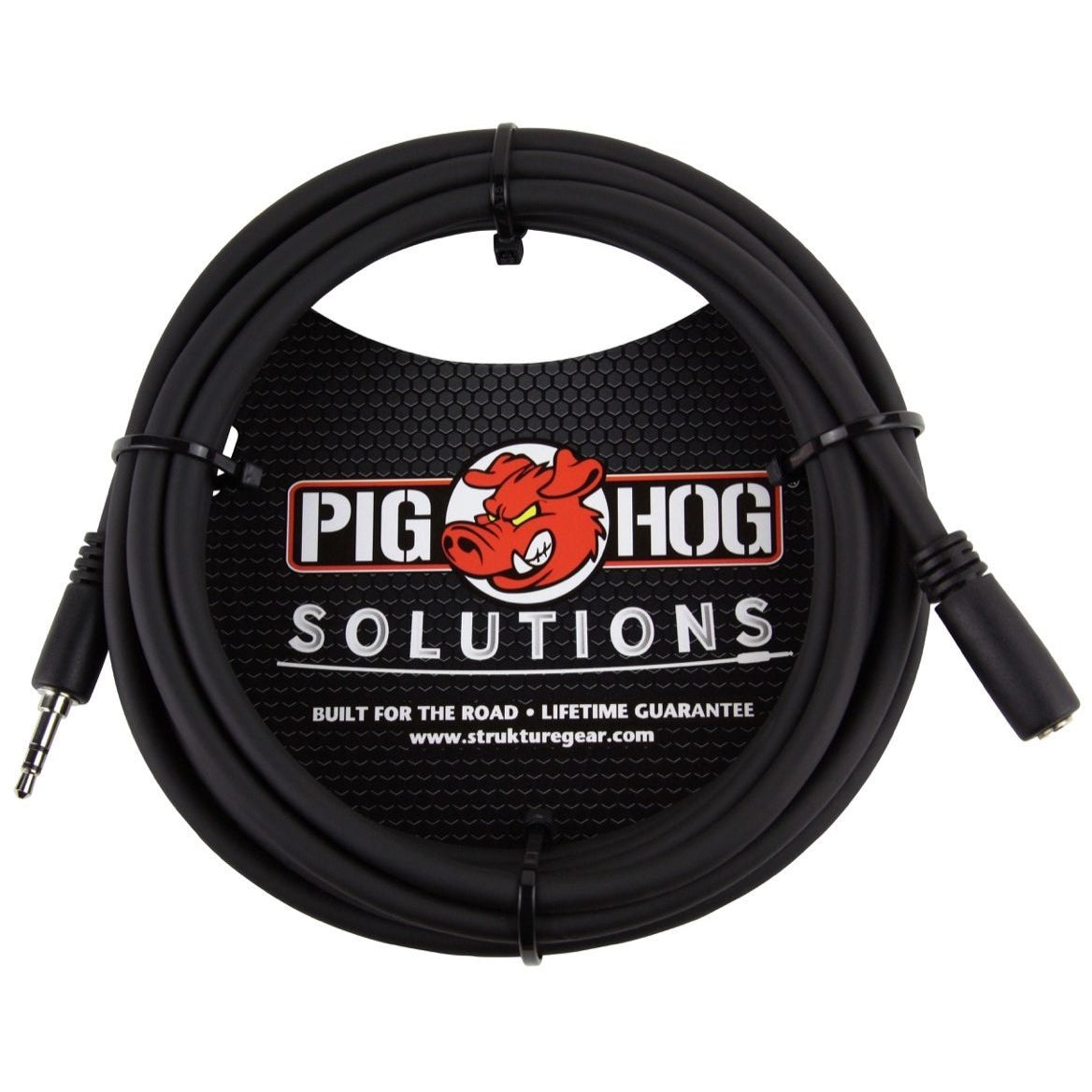 Pig Hog 1/8 Inch TRS Headphone Extension Cable, 10 Foot