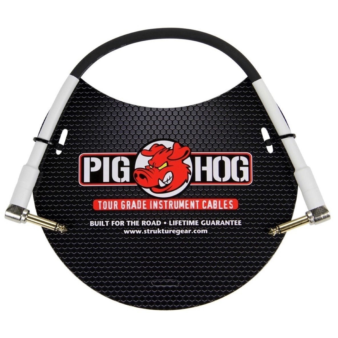 Pig Hog Instrument Pedal Cable, with Right Angle to Right Angle Ends, 1'