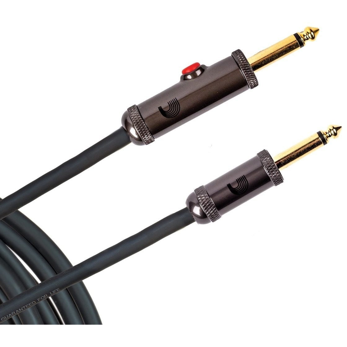 Planet Waves Circuit Breaker Instrument Cable with Latching Cut-Off Switch, 15 Foot