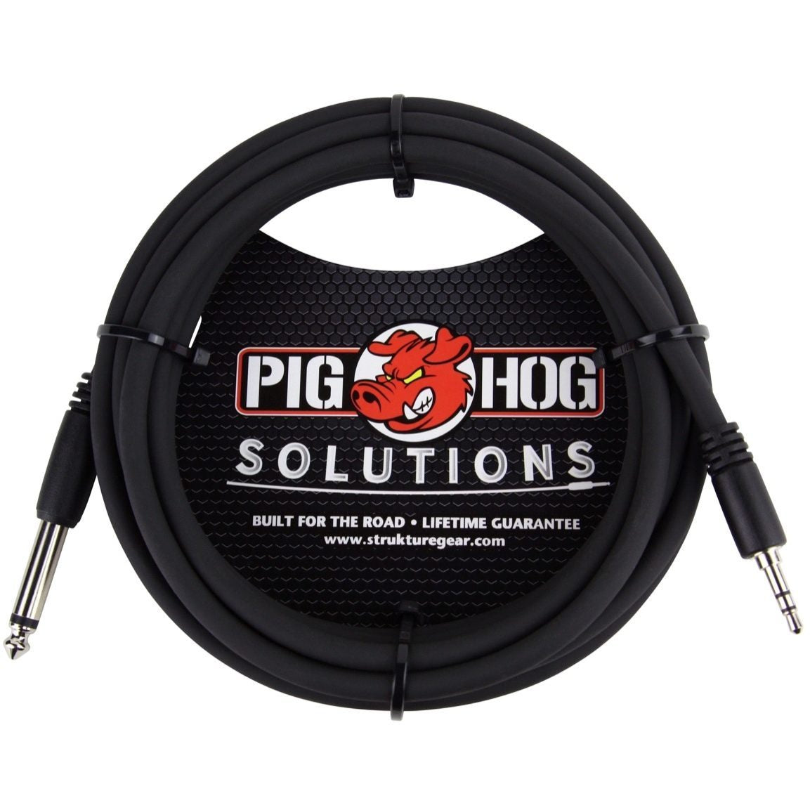 Pig Hog 1/4 Inch TS (Male) to 3.5mm (Male) Adaptor Cable, 10 Foot