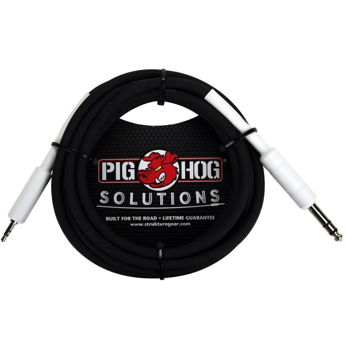 Pig Hog PX48J6 1/4 Inch TRS (Male) to 3.5mm (Male) Adaptor Cable, 10 Foot