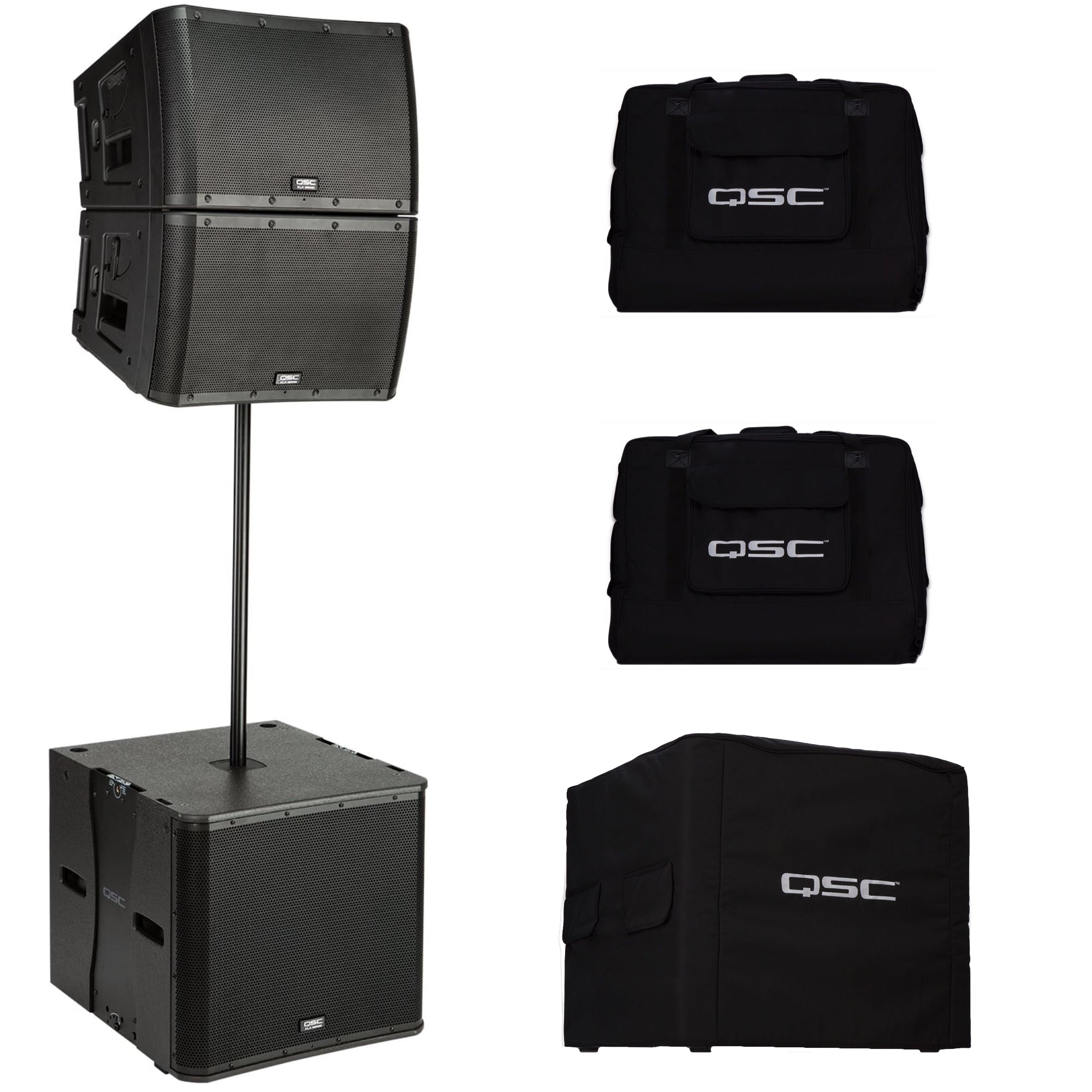 QSC Line Array KLA12 Loudspeaker Pair with KLA181 Subwoofer Bundle Pack