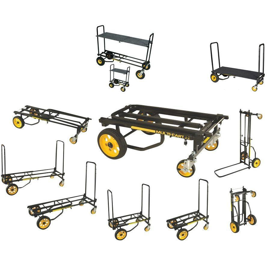 RocknRoller Multi-Cart Equipment Cart with R-Trac Wheels, R10RT, with RocknRoller RSD10 Decking System