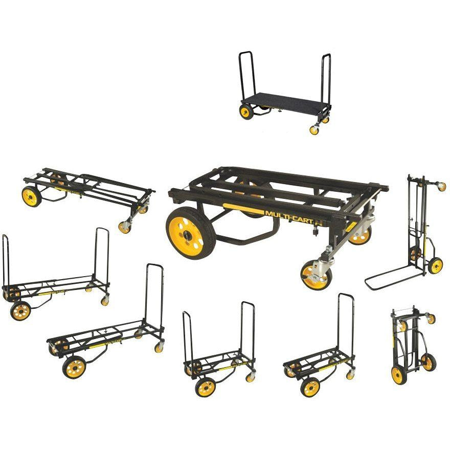 RocknRoller Multi-Cart Equipment Cart with R-Trac Wheels, R12RT, with RocknRoller RSD10 Decking System