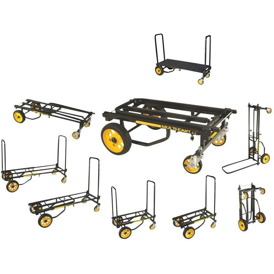 RocknRoller Multi-Cart Equipment Cart with R-Trac Wheels, R2RT, with RocknRoller RSH2 Decking System