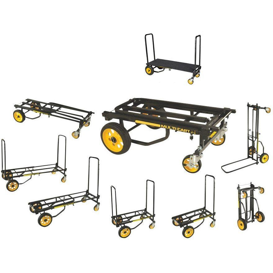 RocknRoller Multi-Cart Equipment Cart with R-Trac Wheels, R8RT, with RocknRoller RSD10 Decking System