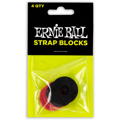 Ernie Ball P04603 Strap Blocks Black and Red 4 Pack