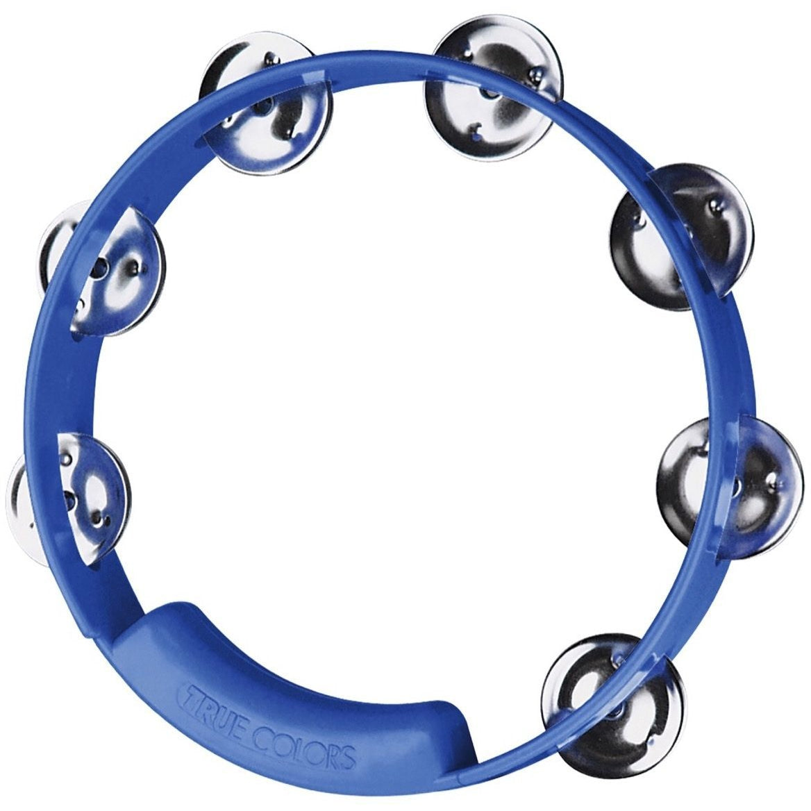 Rhythm Tech True Colors Tambourine (8 Inch, Single Row), Blue, 8 Inch