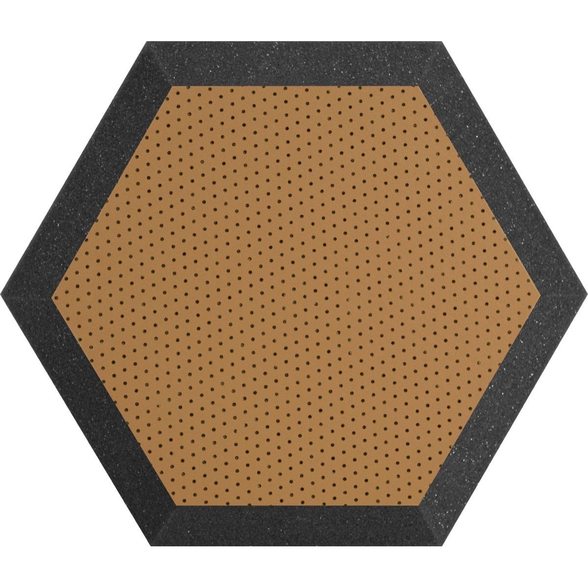 Ultimate Acoustics Hexagonal Foam Wall Panel (Pair), Bronze/Brown, UA-HX-12BR, 12 Inch