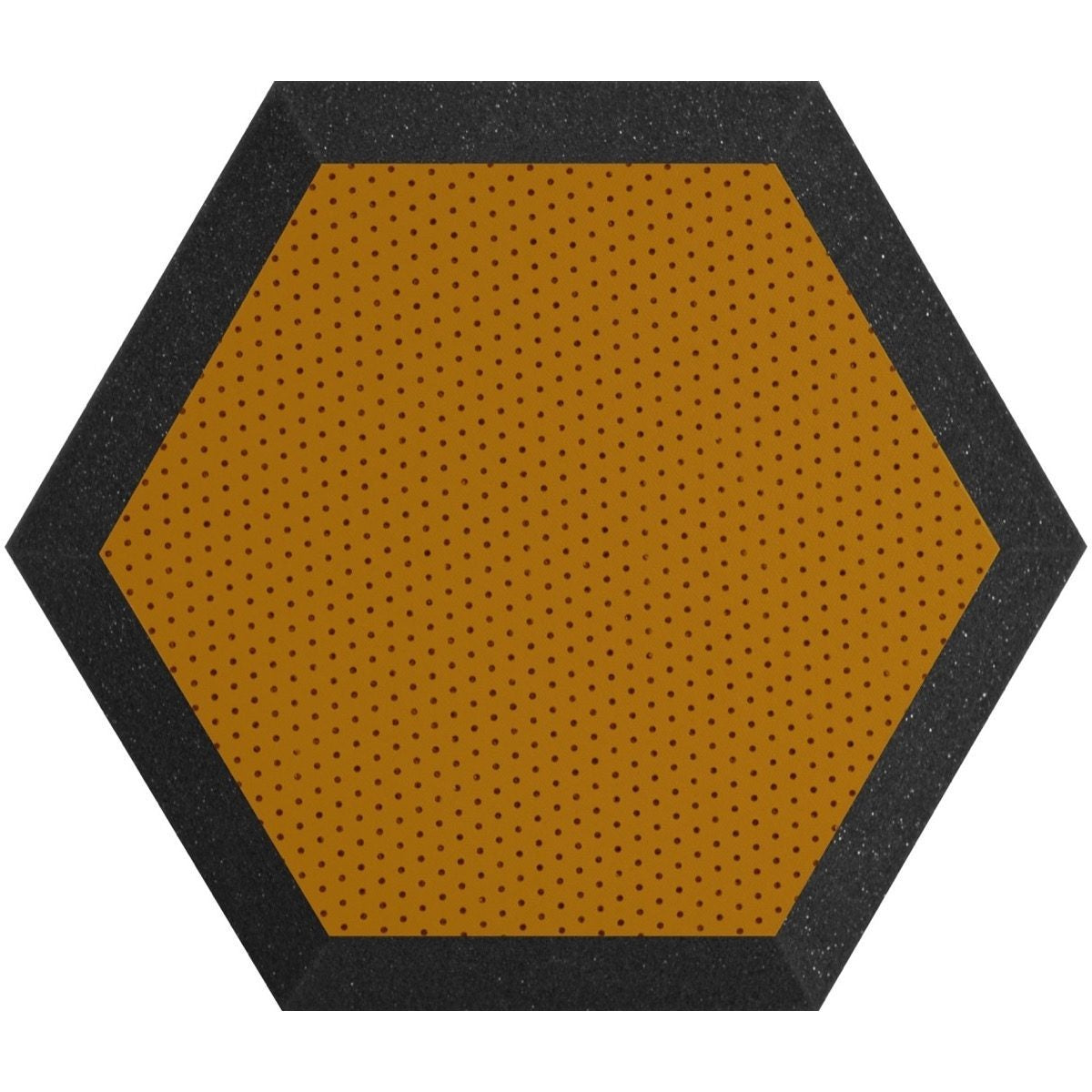 Ultimate Acoustics Hexagonal Foam Wall Panel (Pair), Charcoal/Butter, UA-HX-12KW, 12 Inch