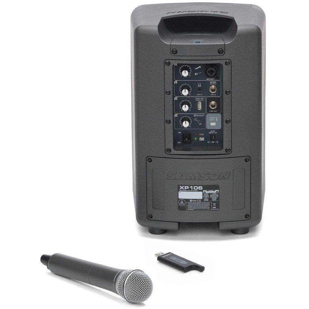 Samson Expedition XP106w Battery-Powered Portable Bluetooth PA System with Wireless Handheld Mic
