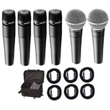 Load image into Gallery viewer, Shure SM57 and SM58 Microphone Package, 4xSM57, 2xSM58, CBI Cables and On-Stage Bag