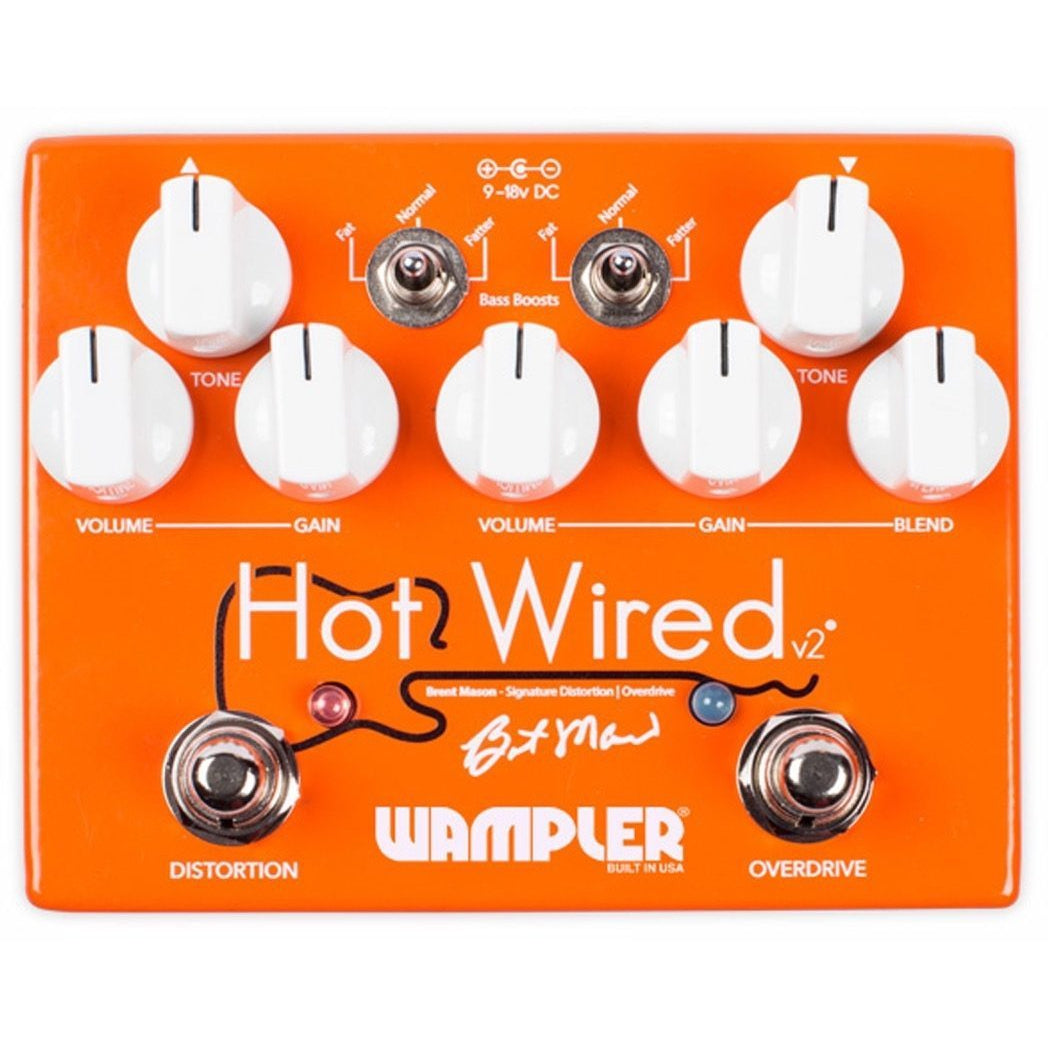 Wampler Brent Mason Hot Wired v2 Overdrive Distortion Pedal