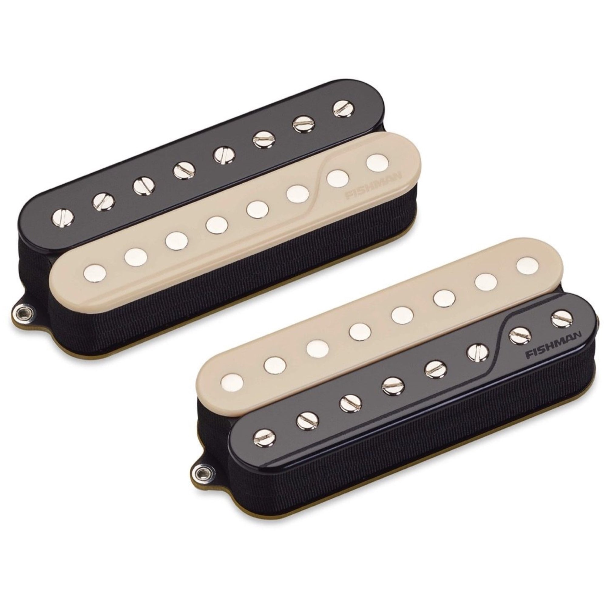 Fishman Open Core Fluence Classic Humbucker 8-String Pickup, Zebra, Set, Reverse Wound