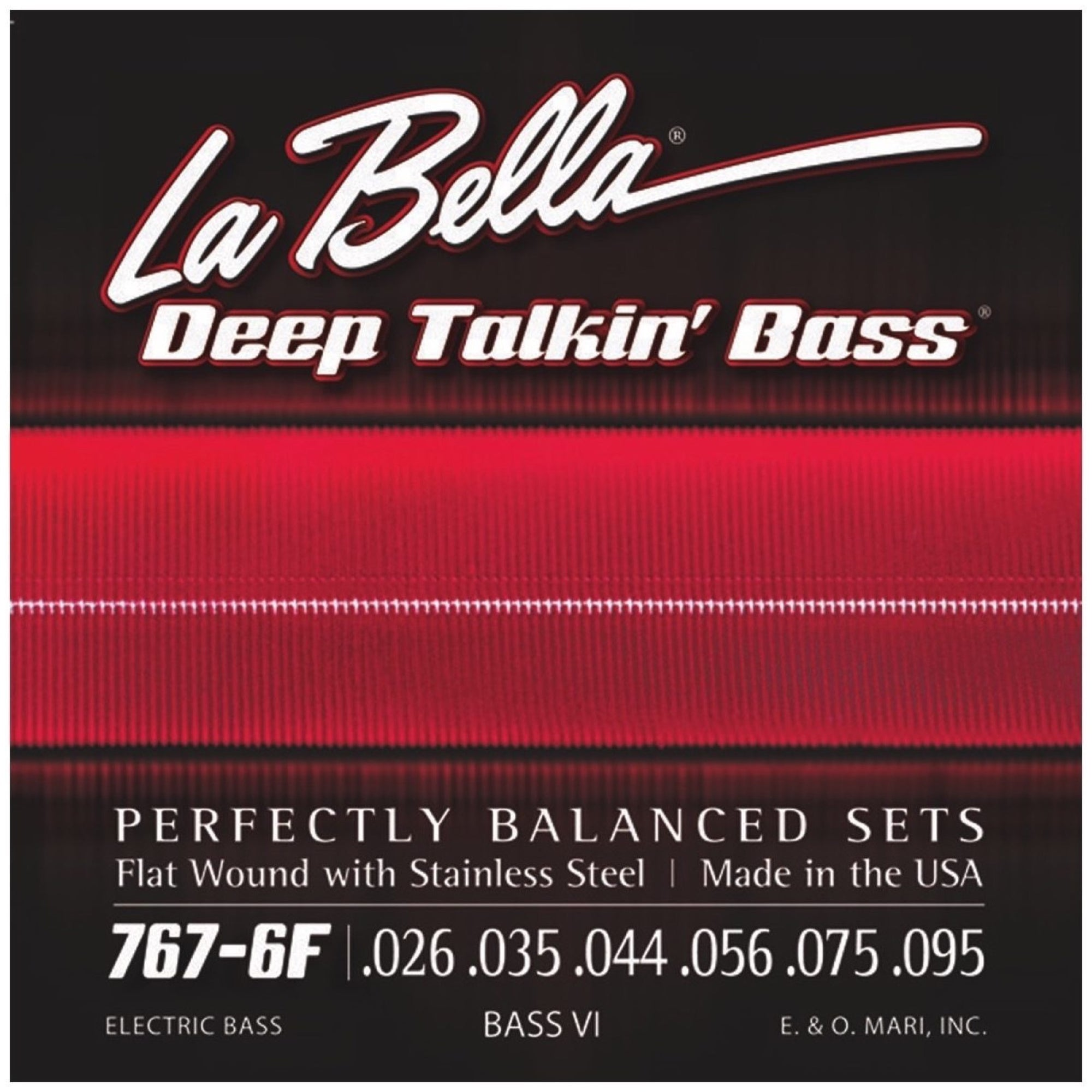 La Bella 767-6F Bass VI Flatwound Electric Bass Strings