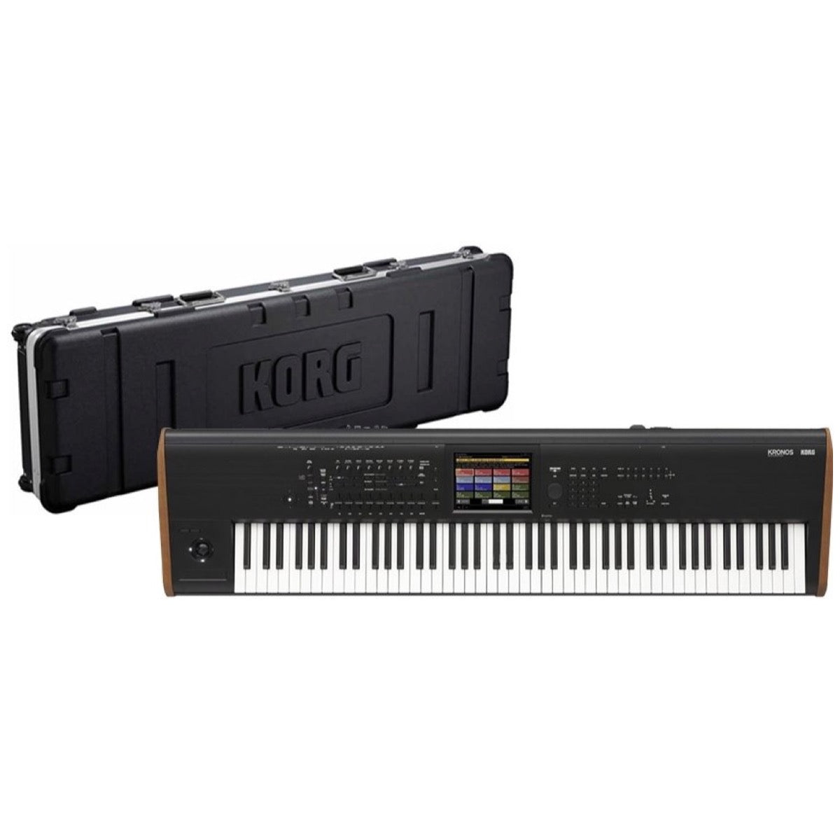 Korg Kronos 8 Music Workstation Keyboard, 88-Key, Black, with Case