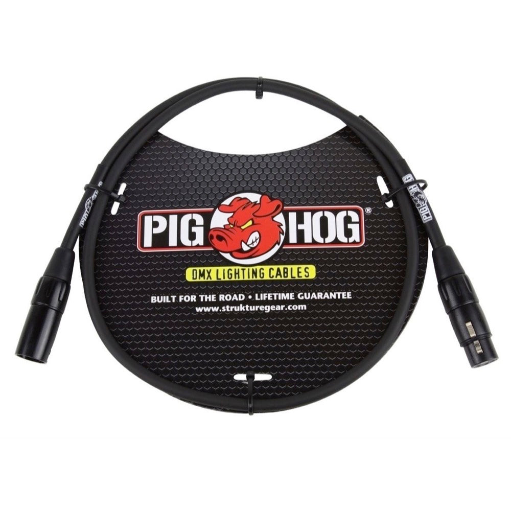 Pig Hog 3-Pin DMX Lighting Cable, 50 Foot