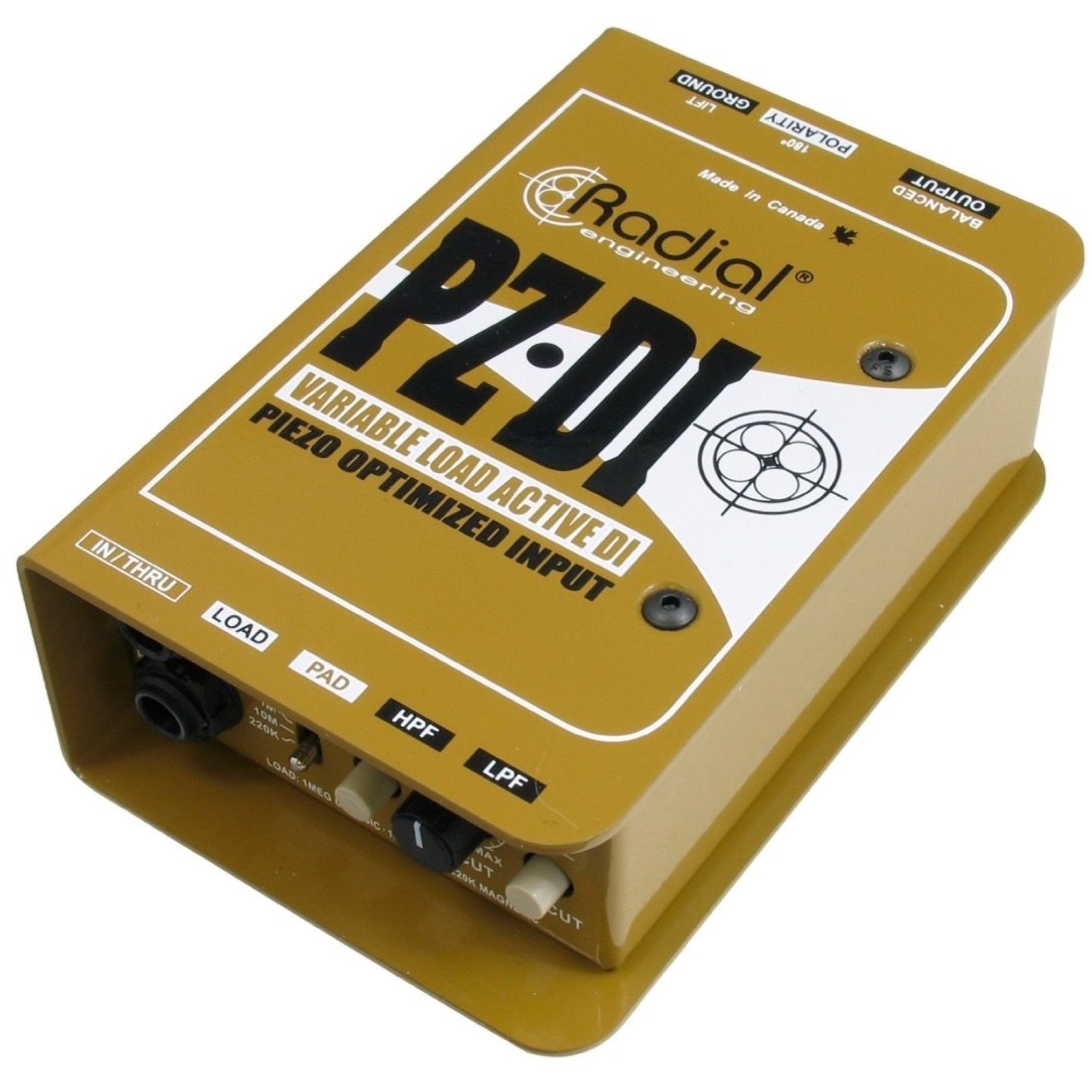Radial PZDI Active DI Direct Box for Acoustic Instruments
