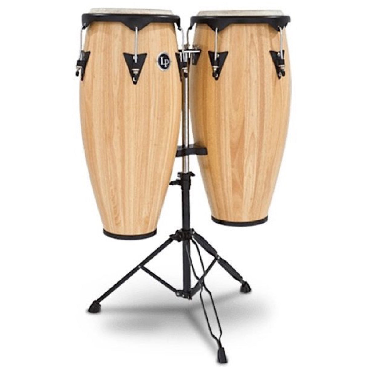 Latin Percussion 646 City Series Congas, Natural, 10 Inch and 11 Inch