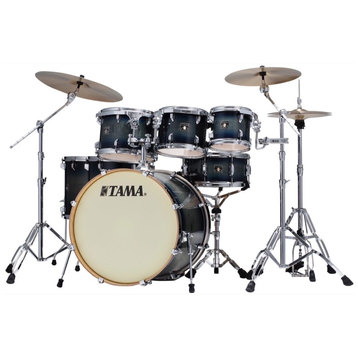 Tama CL72S Superstar Classic Drum Shell Kit, 7-Piece, Dark Indigo Burst