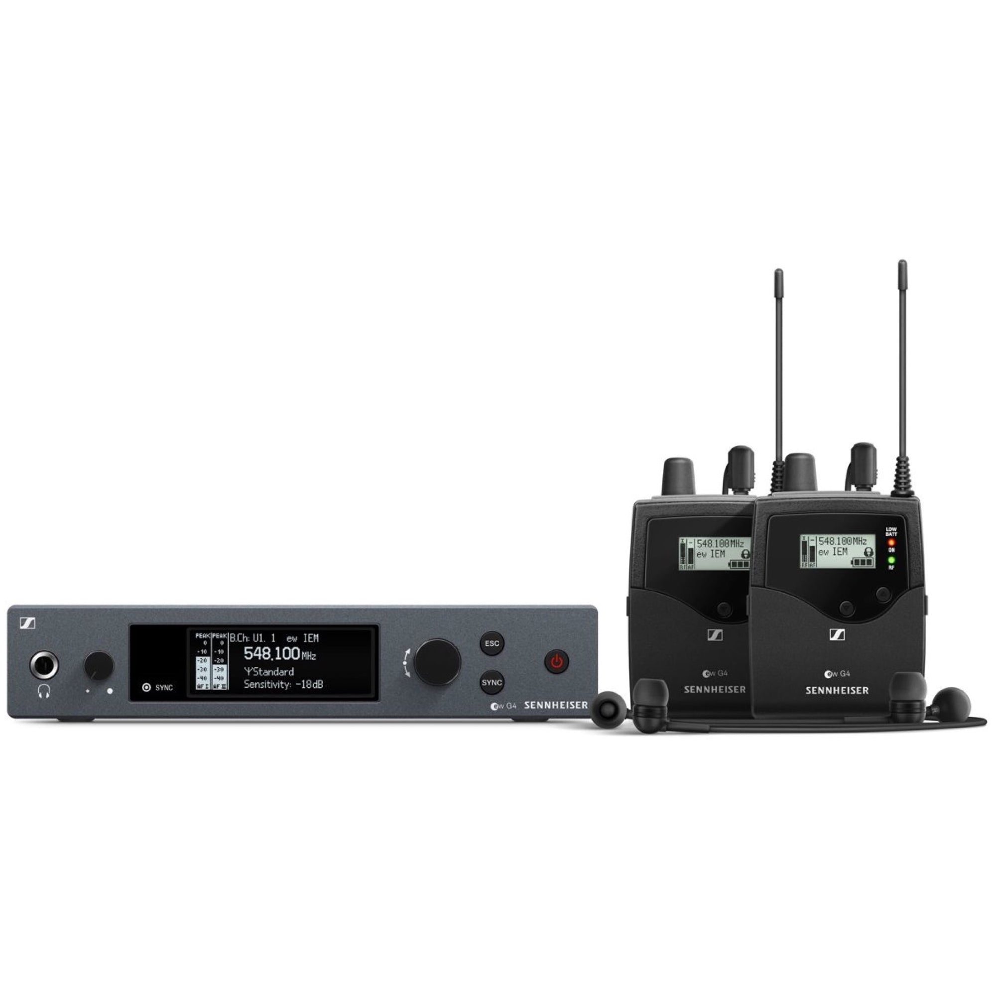 Sennheiser EW IEM G4 TWIN In-Ear Monitor System, Band A1 (470-516 MHz)