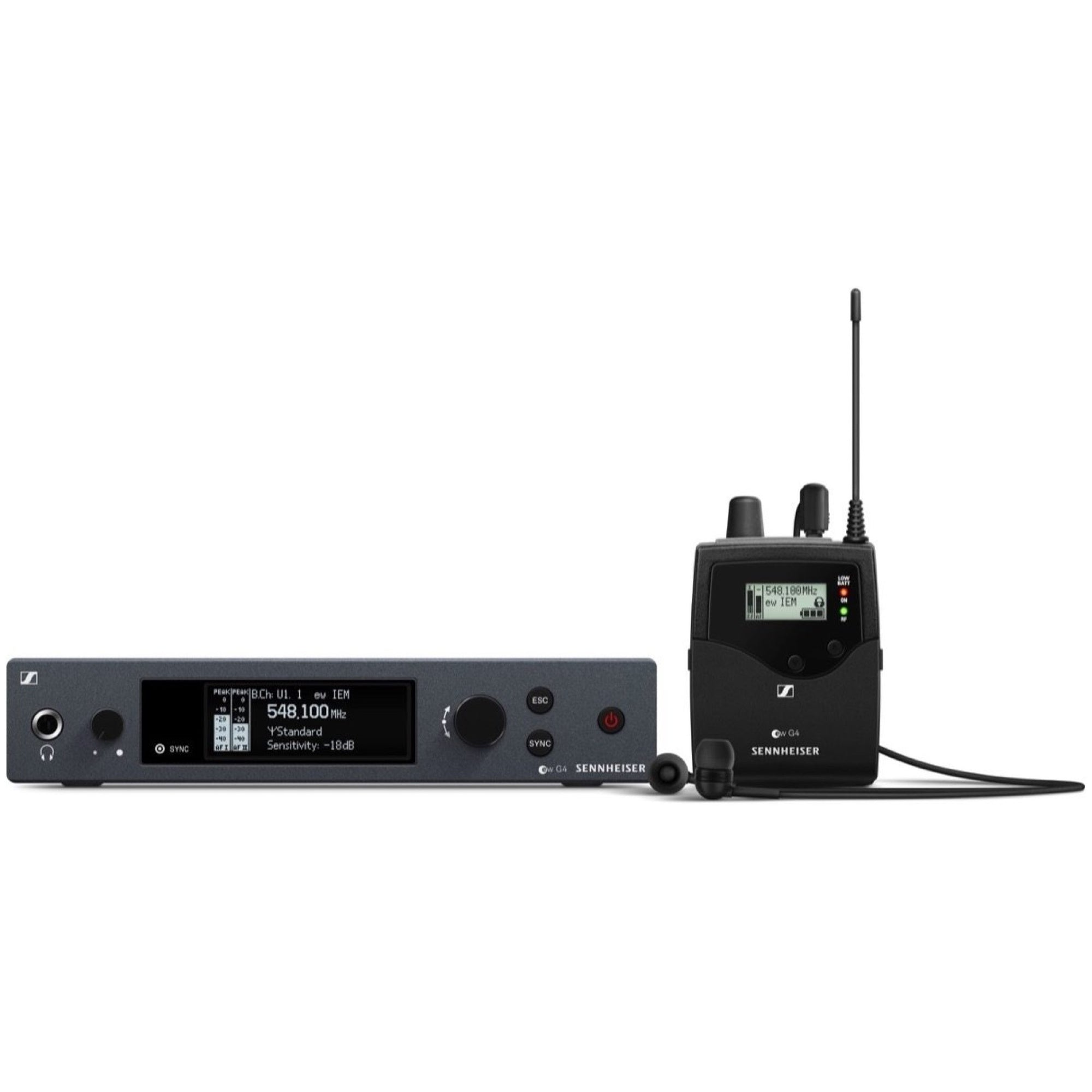 Sennheiser EW IEM G4 Wireless In-Ear Monitor System, Band A1 (470-516 MHz)