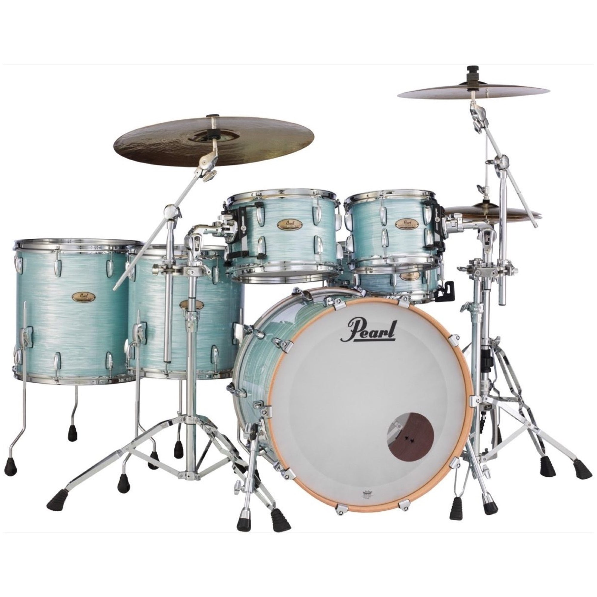 Pearl Session Studio Select Drum Shell Kit, 5-Piece, Ice Blue Oyster