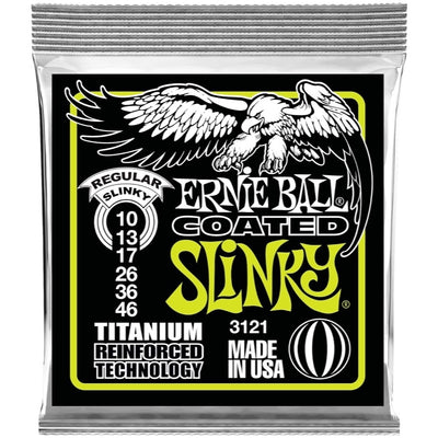 Ernie Ball 3121 Slinky Coated Titanium RPS Electric Guitar Strings