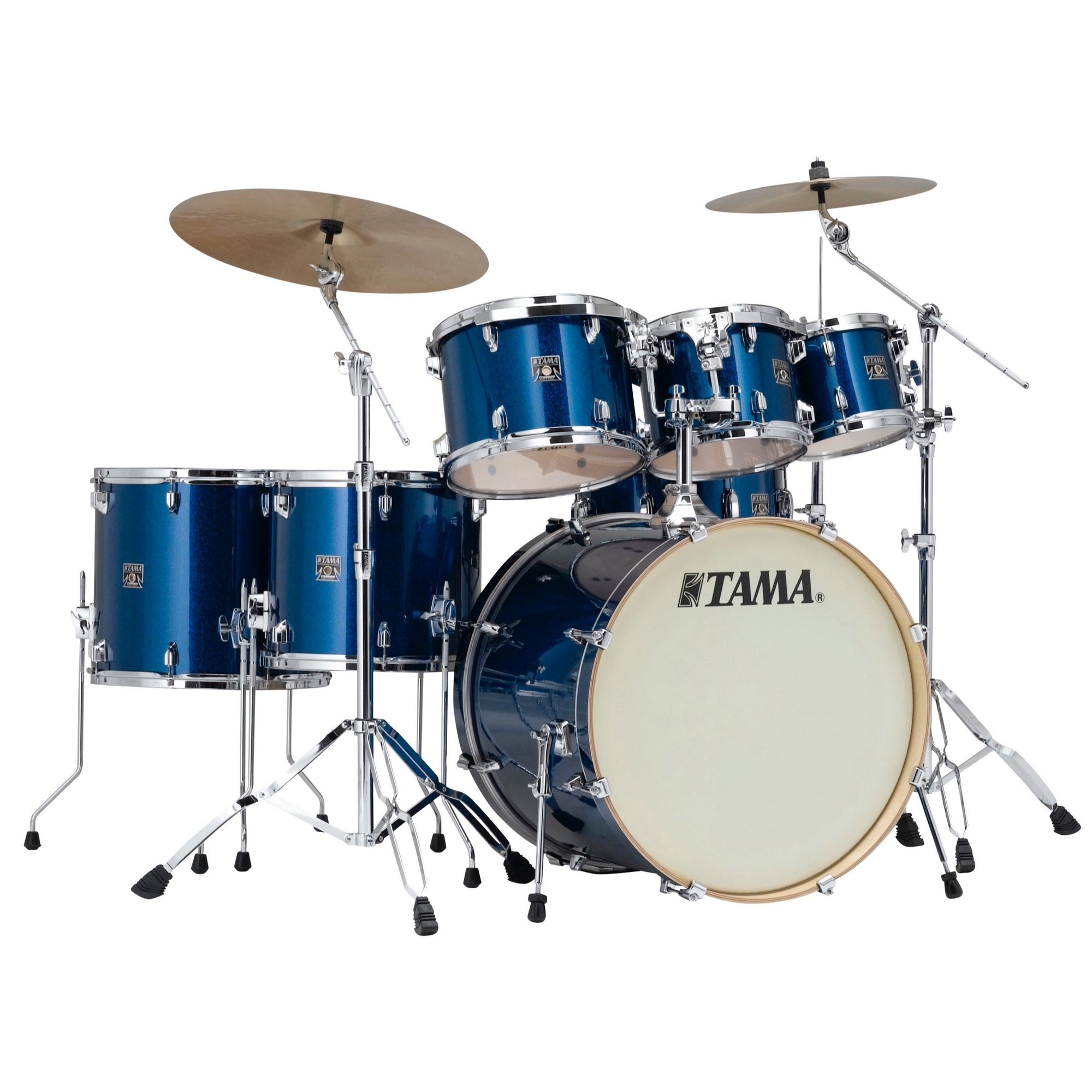 Tama CK72S Superstar Classic Drum Shell Kit, 7-Piece, Indigo Sparkle