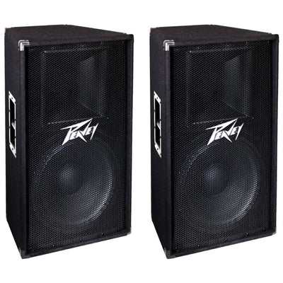 Peavey PV115 2-Way Passive, Unpowered PA Speaker (1x15 Inch), Pair