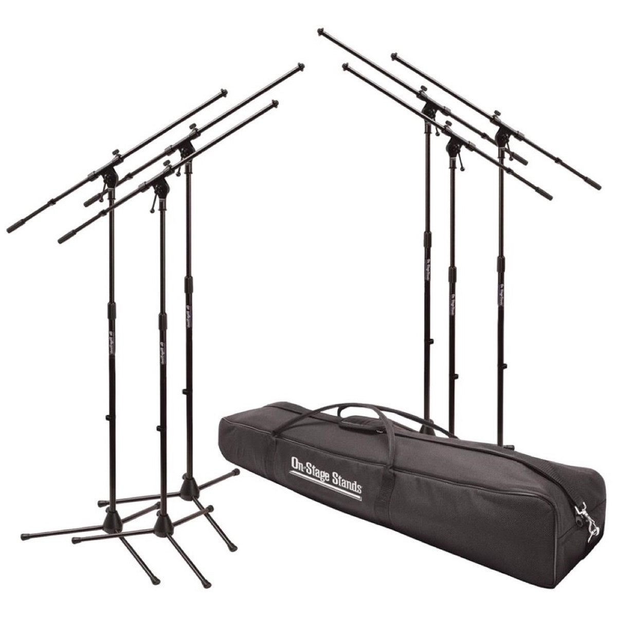 On-Stage MSP7706 EuroBoom Microphone Stands (with Gig Bag)