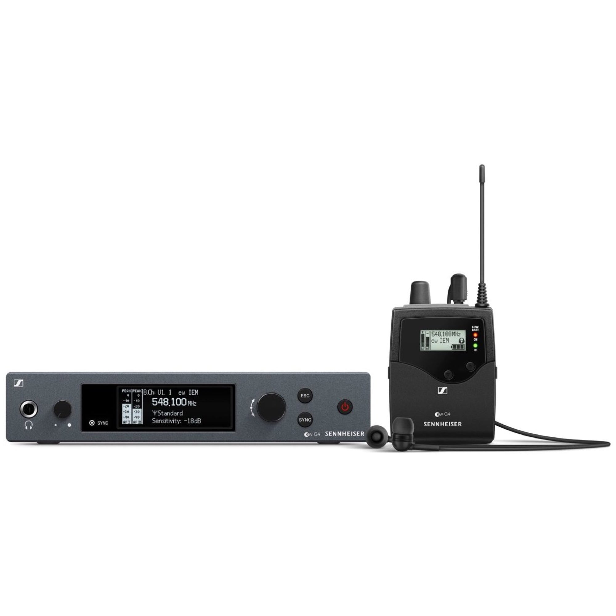 Sennheiser EW IEM G4 Wireless In-Ear Monitor System, Band A (516-558 MHz)
