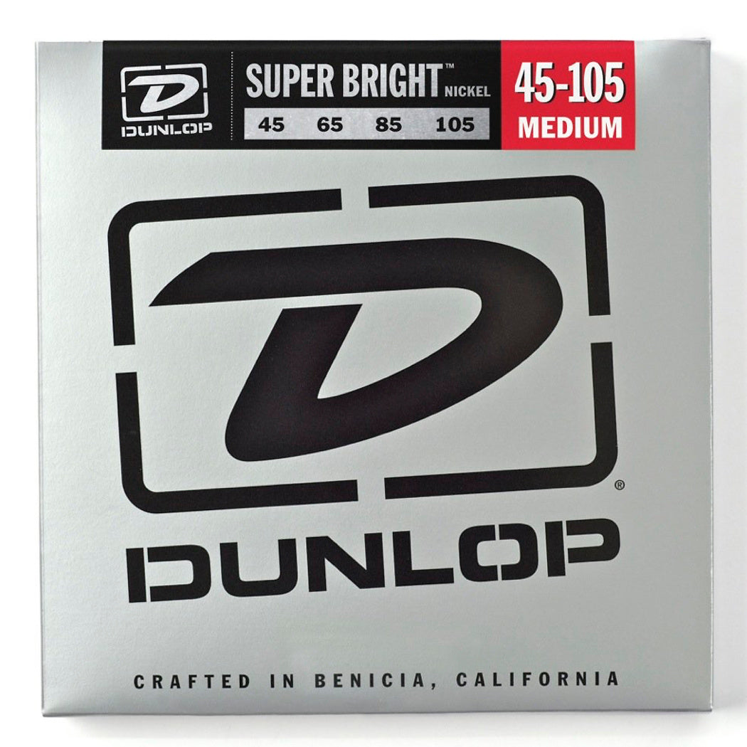 Dunlop Super Bright Electric Bass Strings, Medium, 45-105