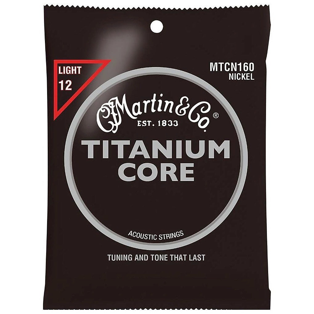 Martin MTCN160 Titanium Core Acoustic Strings, Light