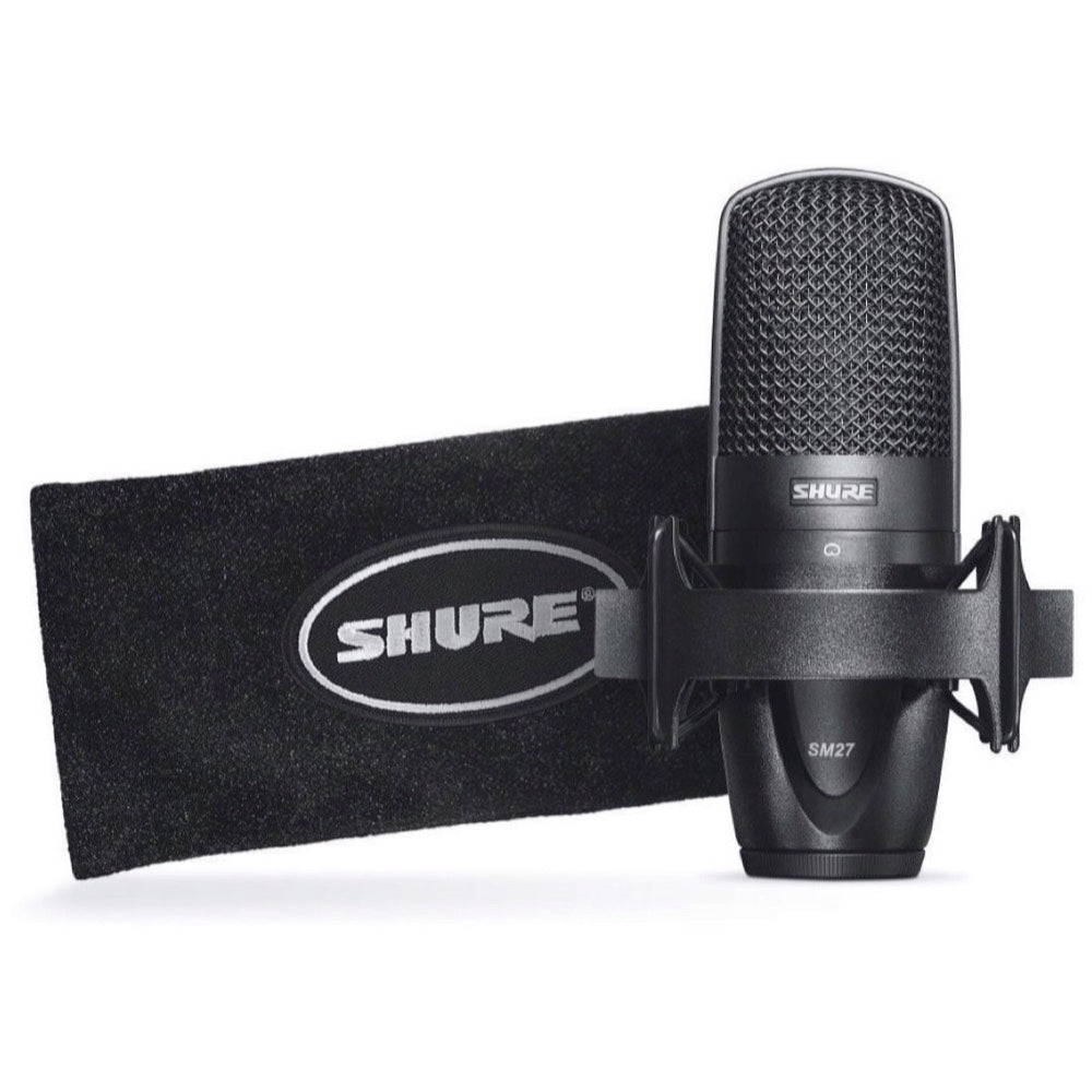 Shure SM27 Multi-Purpose Condenser Microphone, SM27 SC, with Shockmount