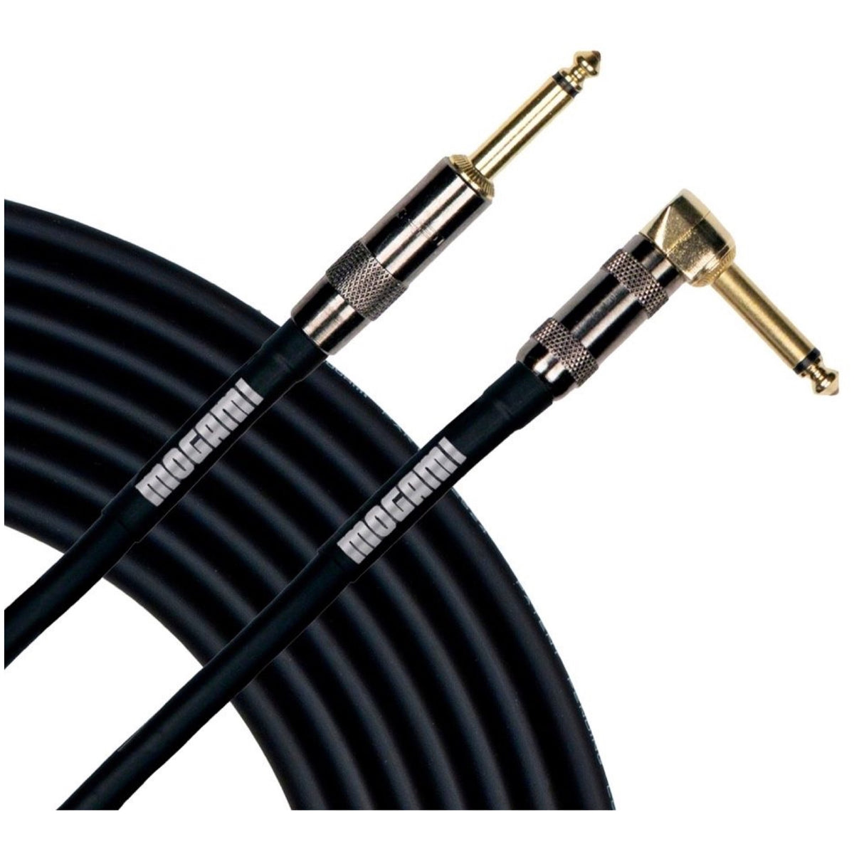 Mogami Platinum Guitar Cable with Right Angle Ends, 12'
