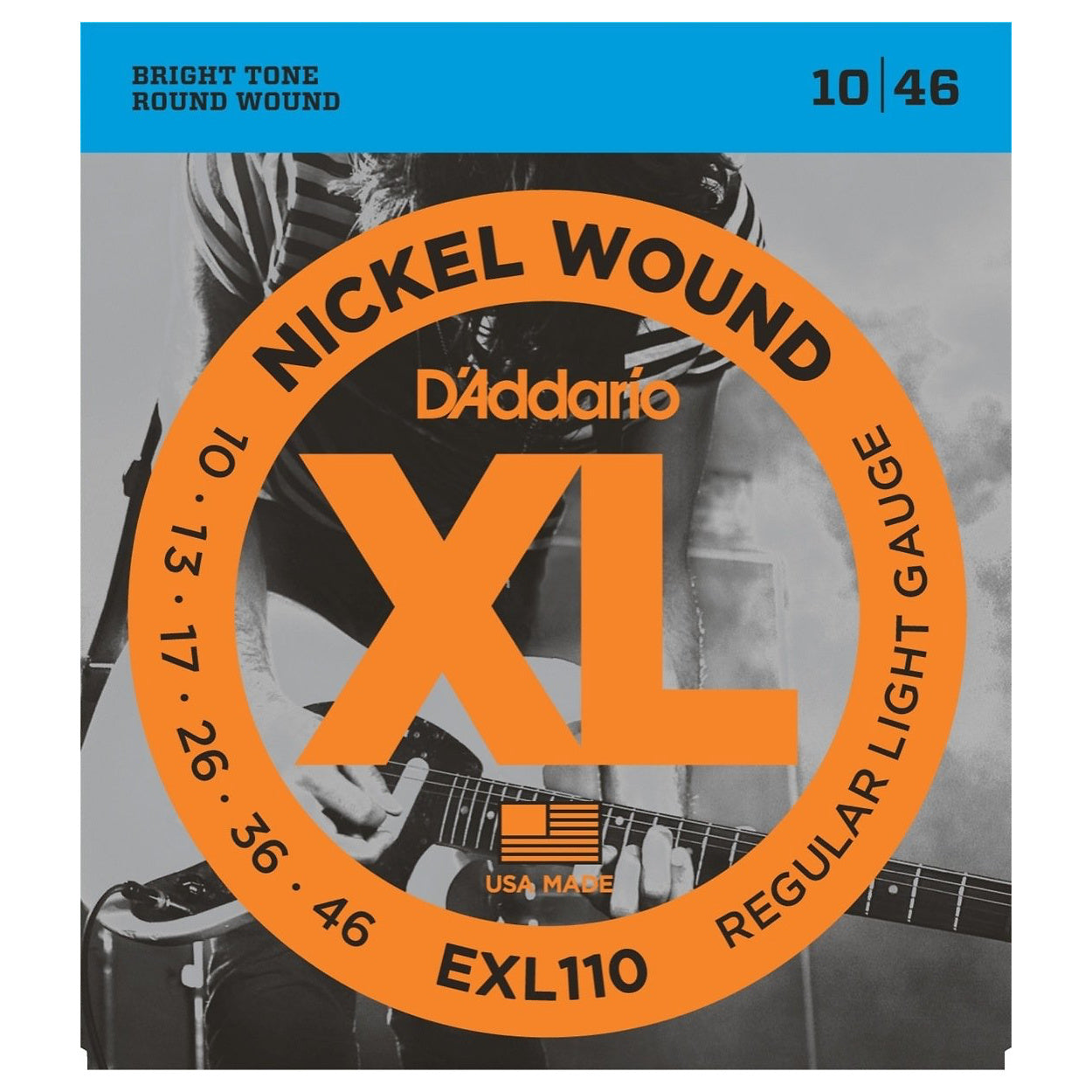 D'Addario EXL110 XL Electric Guitar Strings (Regular Light, 10-46), 10-Pack