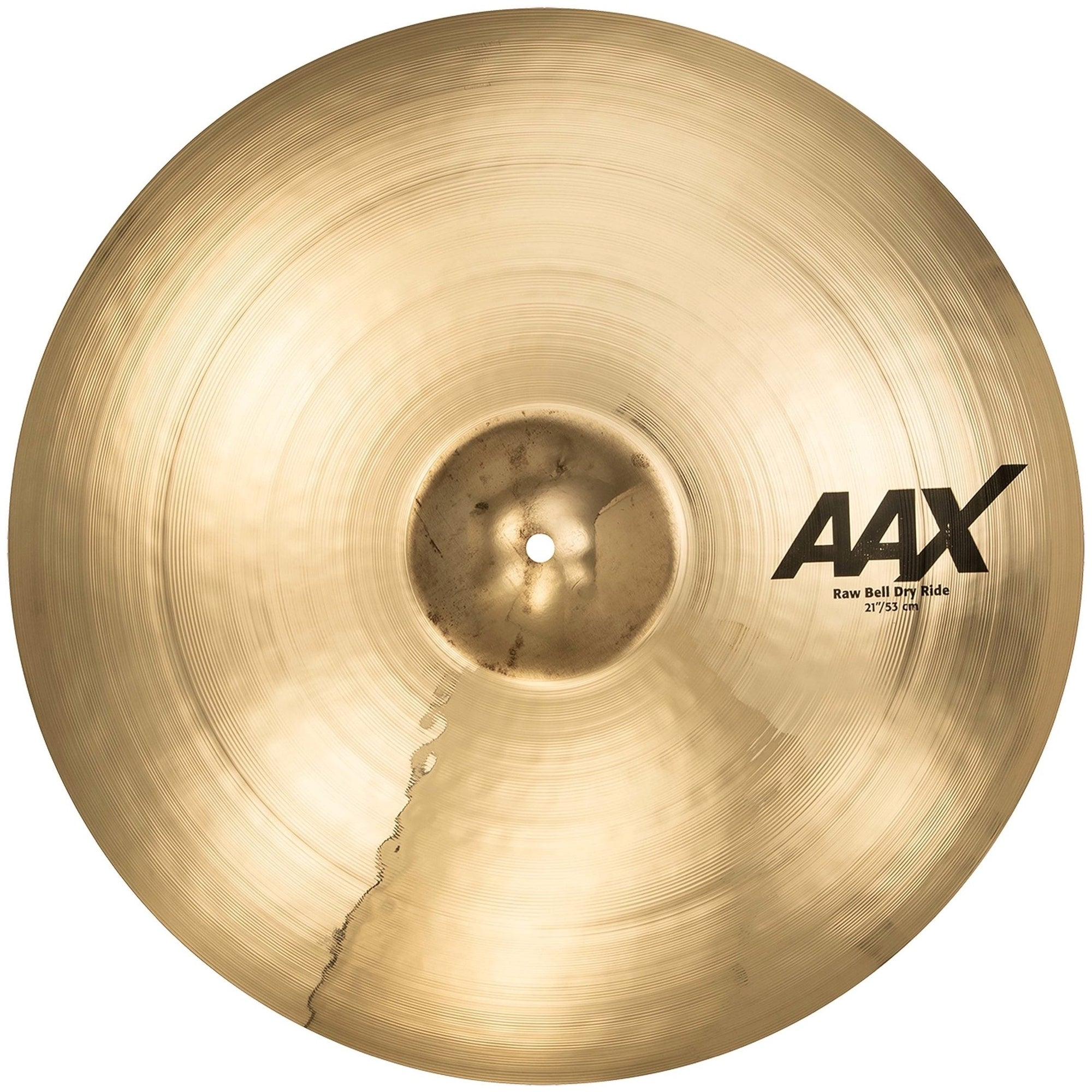 Sabian AAX Raw Bell Dry Ride Cymbal, Brilliant Finish, 21 Inch
