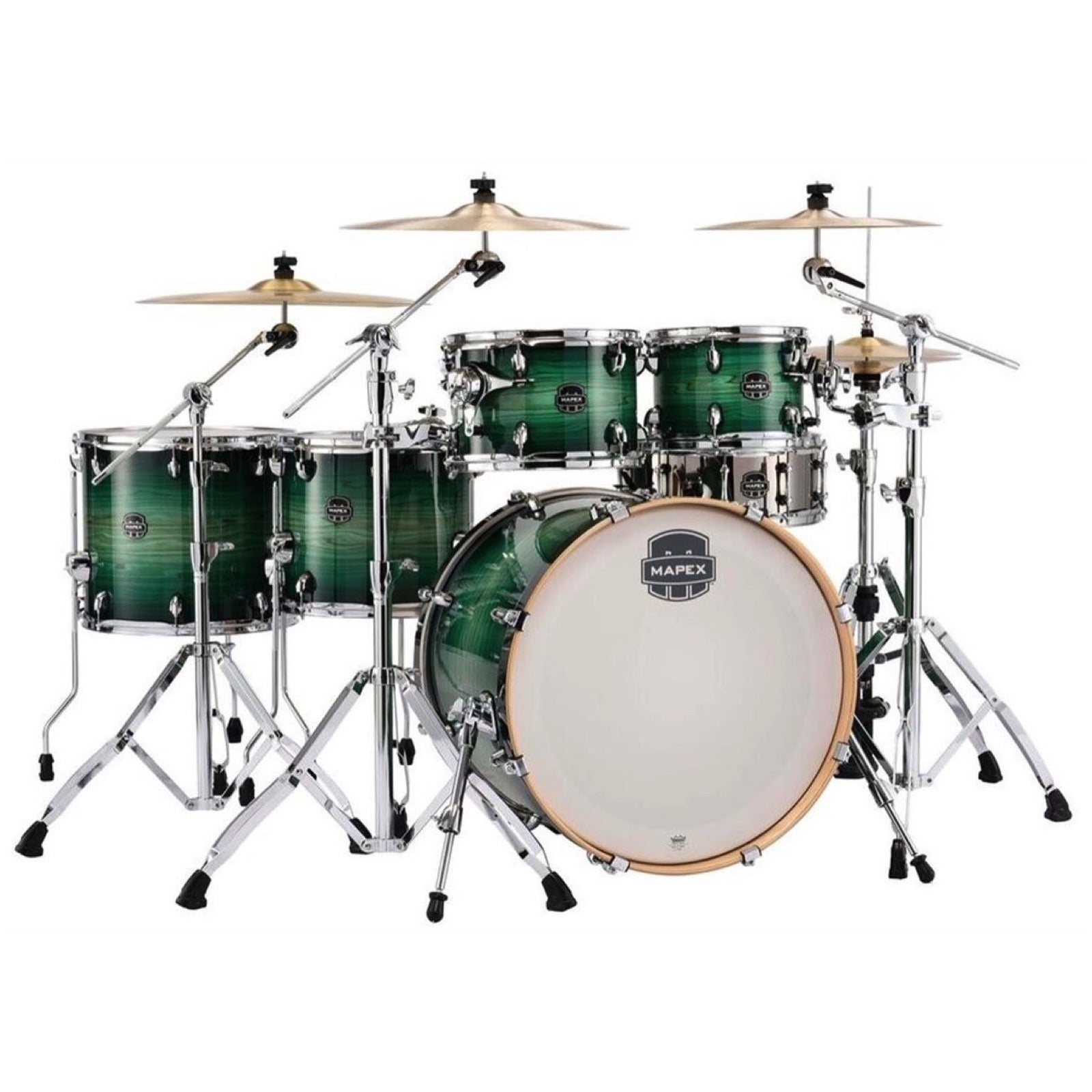 Mapex Armory Studioease Fast Drum Shell Kit, 6-Piece, Emerald Burst