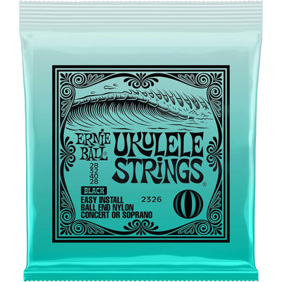 Ernie Ball Ball-End Black Nylon Ukulele Strings