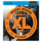Load image into Gallery viewer, D'Addario EXLBT Balanced Tension Nickel Wound Electric Bass Strings, EXL160BT, Medium, 50-120