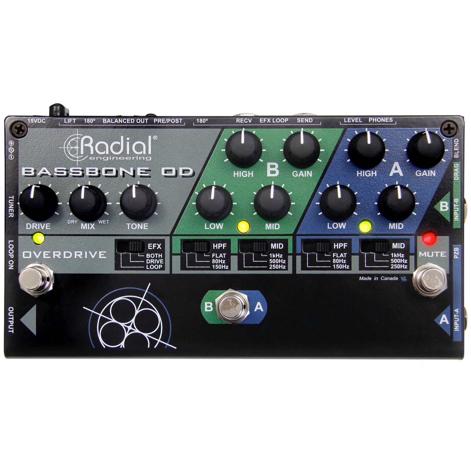 Radial BassBone OD Bass Preamp and DI Pedal