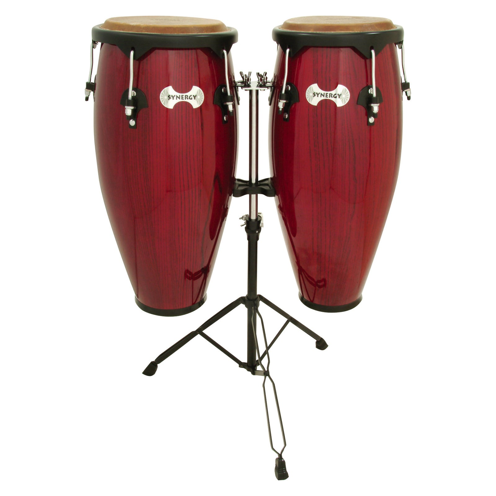 Toca Synergy Congas (with Stand), Rio Red