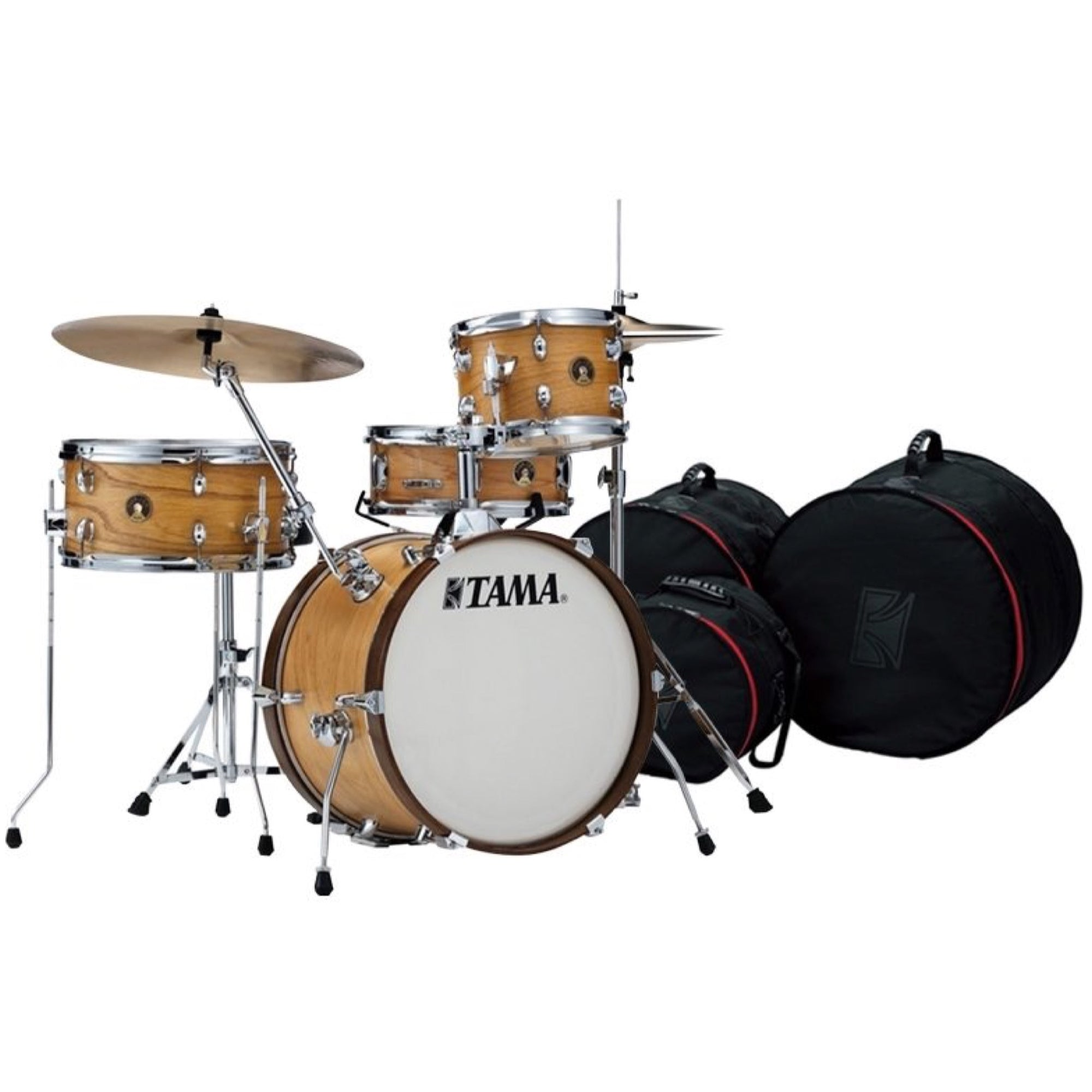 Tama Club Jam Drum Shell Kit, 4-Piece, Satin Blonde, with Drum Bags