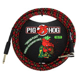 Load image into Gallery viewer, Pig Hog Color Instrument Cable, 1/4 Inch Straight to 1/4 Inch Right Angle, Tartan Plaid, 10 Foot
