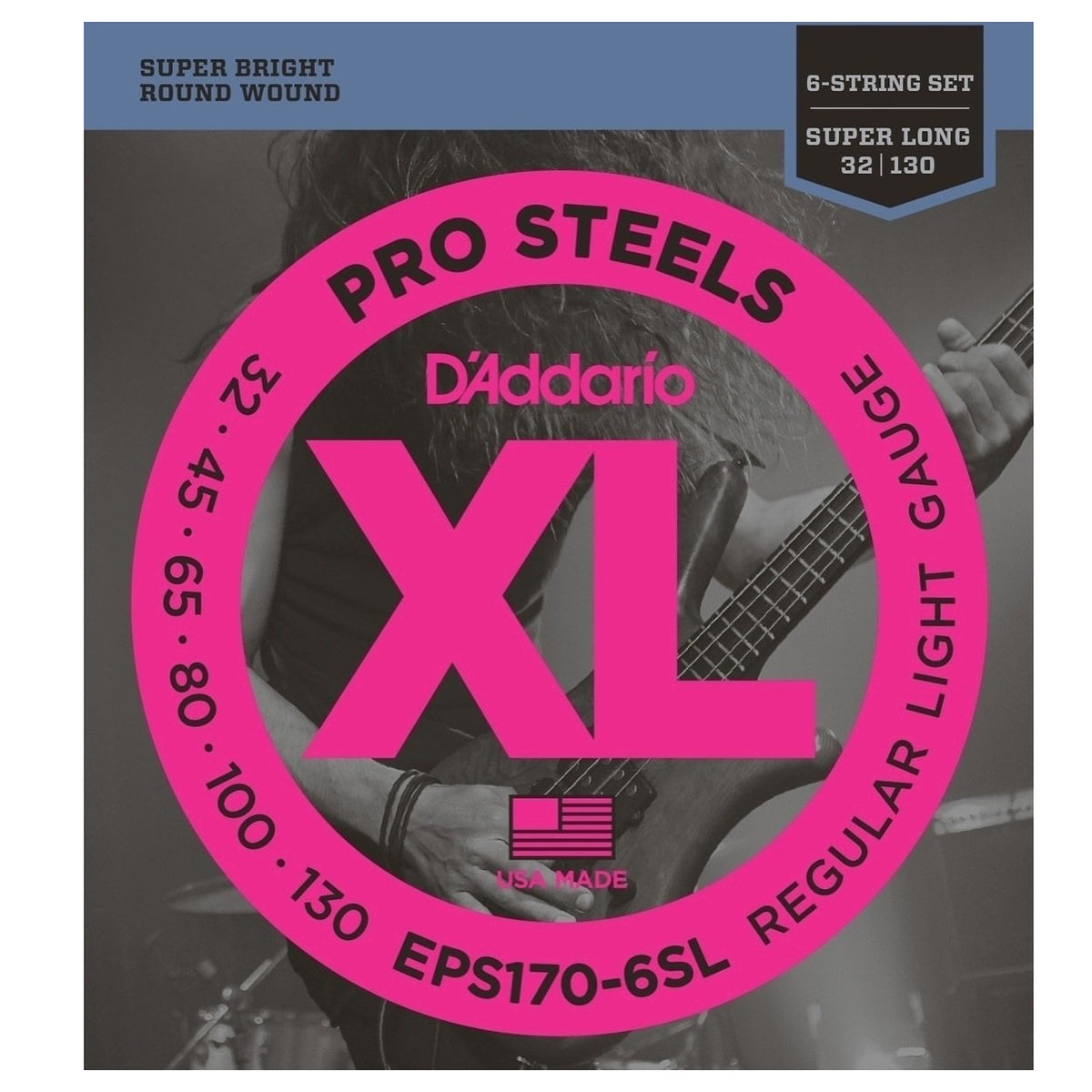 D'Addario EPS1706SL 6-String Pro Steels Bass Strings