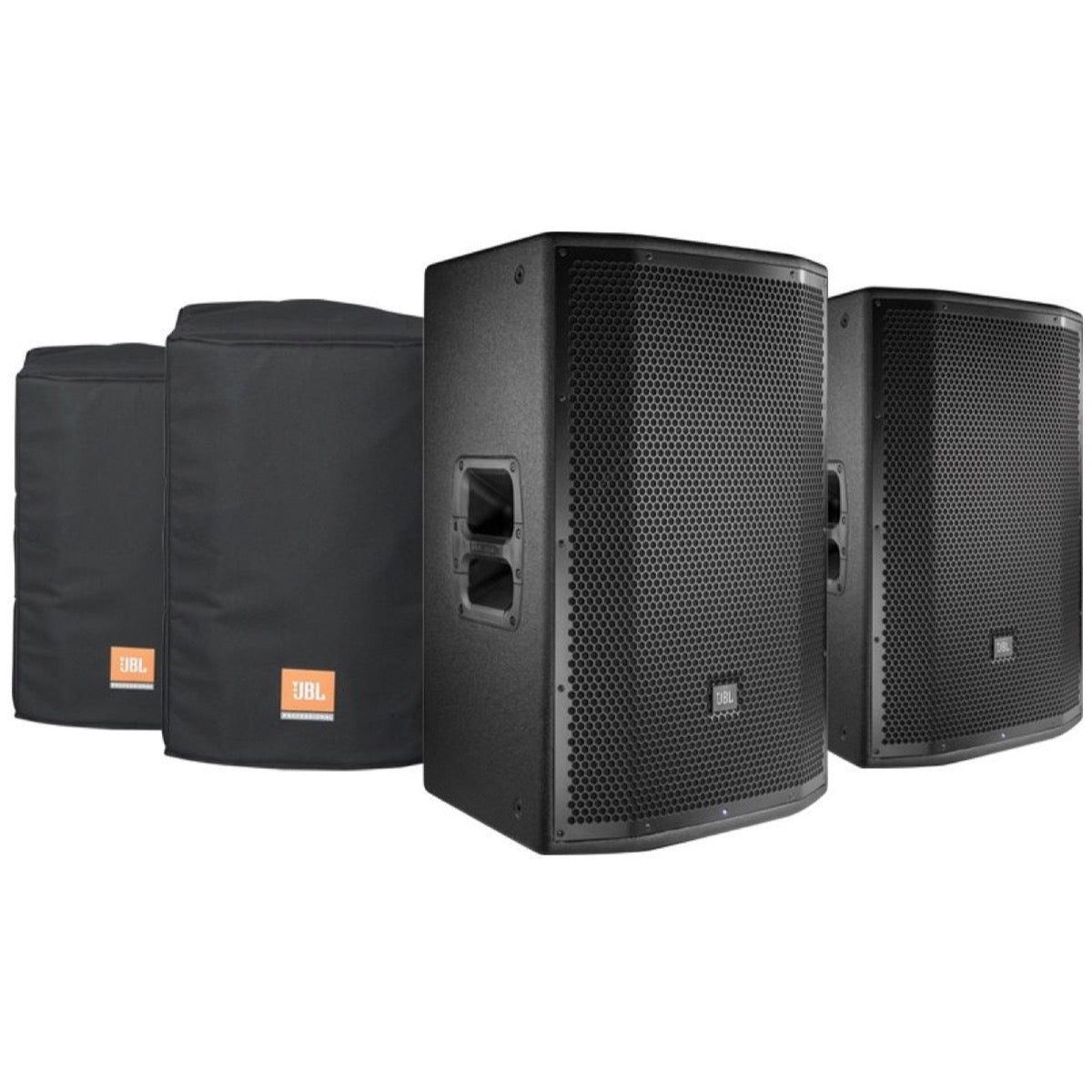 JBL PRX815 Powered Speaker (1500 Watts), Pair, with JBL PRX815-CVR Deluxe Padded Covers