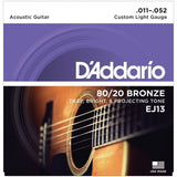 Load image into Gallery viewer, D'Addario 80/20 Bronze Acoustic Guitar Strings, EJ13, Custom Light, 11-52